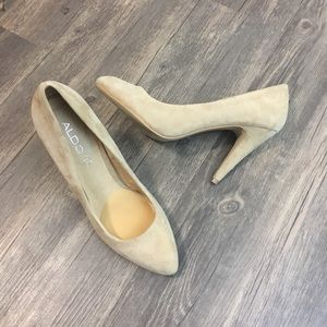 Aldo | Genuine Leather Heels Nude